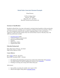 retail sales associate resume objective retail sales associate sales associate on resume happytom co resume samples for retail sales associate