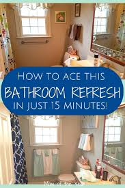 bathroom refresh: is your bathroom looking tired and in need of some freshening up try this easy