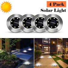 4Pcs <b>8 LED Solar</b> Power Lamp <b>Garden</b> Light <b>Outdoor LED Solar</b> ...