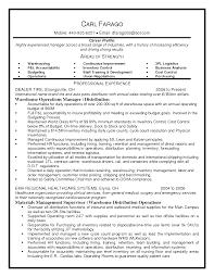 sample resume operations supervisor