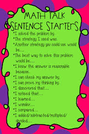best ideas about sentence starters essay writing math talk sentence starters