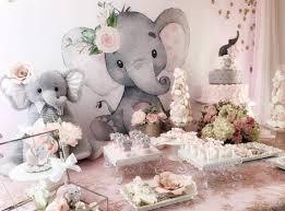 pink-and-gray-<b>elephant</b>-<b>baby-shower</b>-<b>backdrop</b>