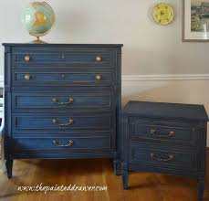 interesting lively navy blue milk paint distressed furniture brightened brass w blue furniture
