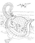 Раскраска мальчик в воде