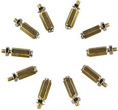 <b>DIY 11mm Hex Brass</b> Spacer Cylinder & Screw & Nut Kits for ...