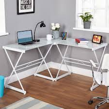 walmart home office desk. atrium metal and glass lshaped computer desk multiple colors walmartcom walmart home office