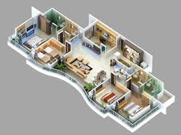 """Four """" """" Bedroom Apartment House Plans   Bedroom Apartment     Bedroom Apartment House Plans"""