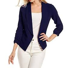 Sunward Women 3/4 Sleeve Blazer Open Front Short Cardigan <b>Suit</b> ...