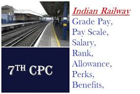 railway pay scale salary calculator rank grade pay  allowance  n railway benefits under 7th pay commission