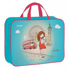 <b>Папка</b>-сумка с ручками 350*265*80 <b>Berlingo</b> Girl in London, А4, 1 ...