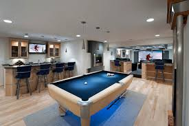 contemporary basement by moss building and design moss home services basement lighting design