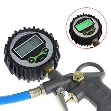 digital tire pressure gauge meter bicycle bike car diagnostic tool 0 150 psi back light lcd air tester