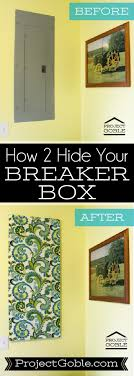 breaker box now you see it now you don t project goble breaker box cover how to create a fabric wall art to cover your ugly breaker