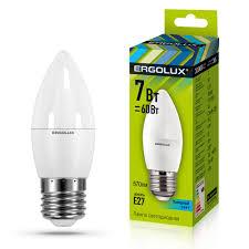 Продаем <b>Лампа светодиодная Ergolux</b> 7Вт E27 4500K <b>Свеча</b> 172 ...