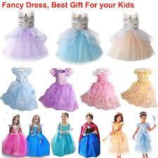 Toddler Kid <b>Girl Unicorn Anna</b> Elsa Princess Party Fancy Dress Up ...