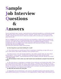 job interview questions and answers sample livmoore tk job interview questions and answers sample 24 04 2017