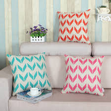 home decor plate x: decorative pillows shell cushion cover home sofa decor zigzag wing geometric teal pink orange print