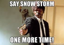 say snow storm one more time! - Samuel L Jackson | Meme Generator via Relatably.com