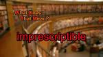 imprescriptible
