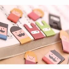 2 pcs/pack <b>Cactus Magnet Bookmark Cute</b> Paper Clip Bookmarks ...