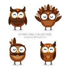 Free Vector | <b>Ethnic owl</b> collection
