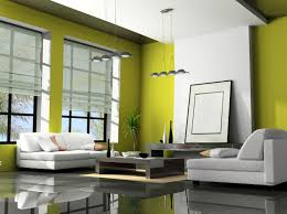 green black mesmerizing: white and green wall plus glass windows combined with white fabric sofa and black wooden table