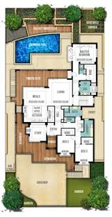 ideas about Double Storey House Plans on Pinterest   Two    Hamptons Style Home Plans by Boyd Design Perth  This popular Hamptons style home design is stunning  View the floor plans of this lovely two storey home
