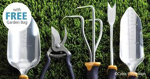 <b>5</b>-<b>Pc</b>. <b>Garden</b> Tool Set w/FREE Garden Bag | Garden Tools by Cutco
