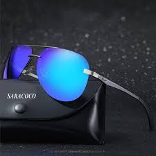 SARACOCO Retro <b>Pilot Polarized Sunglasses</b> for Men <b>Luxury</b> Brand ...