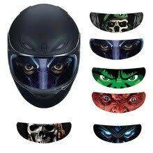<b>Helmet Decoration</b> Lens <b>Sticker Detachable</b> Motorcycle Racing ...