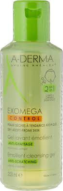 A-Derma Экзомега <b>Смягчающий</b> очищающий <b>гель</b> 2 в 1, 200 мл ...