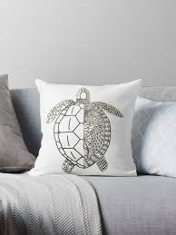 """<b>Flower</b> Patterned <b>Sea Turtle</b>"" Throw Pillow by KacieVlach ..."