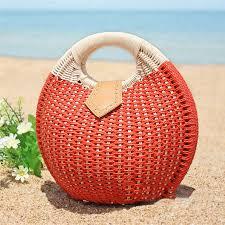 Bohemian Summer Round <b>Handbag</b> Straw <b>Beach Bags Travel</b> ...