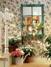 adorable easy home decorating with featuring wall floral pattern covered wallpaper and in under clay pot office beauteous home office