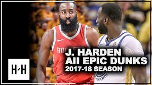 James Harden ALL DUNKS from 2017-2018 NBA Season ...