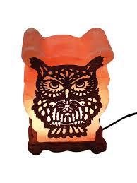Солевая <b>лампа</b> с деревянной картиной Сова 4-5 кг Wonder life ...