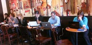 Image result for remote work in coffee shop