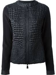 <b>Moncler Gamme Rouge</b> Black Alligator Patterned Puffer Coat ...