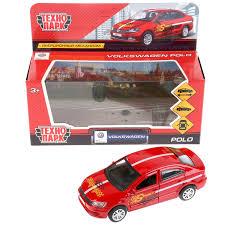 <b>Машина Технопарк</b> VW PoIo <b>спорт</b>, 259365, красный, 12 см ...