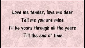 「Love Me Tender」の画像検索結果