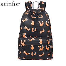 High Quality Waterproof Women Backpack School <b>Cute Animal</b> ...