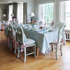 kitchen chair cushions ties blue