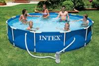 Каркасный бассейн <b>Intex Metal Frame 366х76</b> cm + фильтрующий ...