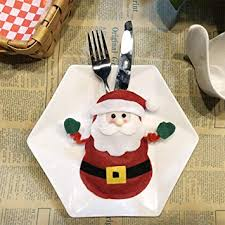 BEESCLOVER <b>Christmas Decoration</b> Dining Table <b>Knife and</b> Fork ...