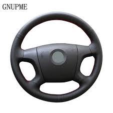 GNUPME <b>Artificial Leather Hand</b>-<b>Stitched Black</b> Car Steering Wheel ...