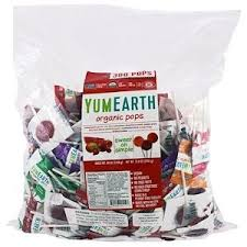 YumEarth, <b>Organic Pops</b>, <b>Assorted Fruits</b> Flavors, 300 Pops, 73.8 oz ...