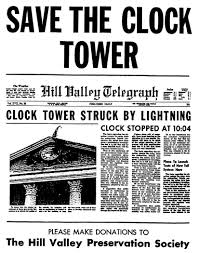save the clock tower flyer back to the future part i props save the clock tower flyer back to the future part i