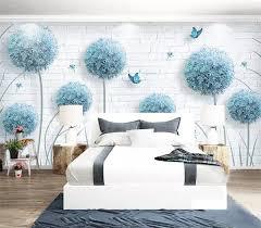 Photo 3D <b>Wallpaper</b> Scandinavian <b>Style</b> Dandelion <b>Hand Painted</b> ...