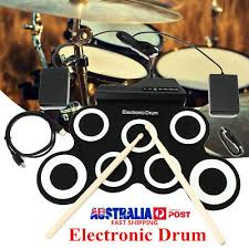 7 Pad <b>Electronic</b> Roll Up Drum Kit <b>Silicone Portable Electric</b> Drum ...