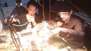 Silke Knetsch and Christian Streit in their work shop. (photo: Gernot Körner) - DSC_0042